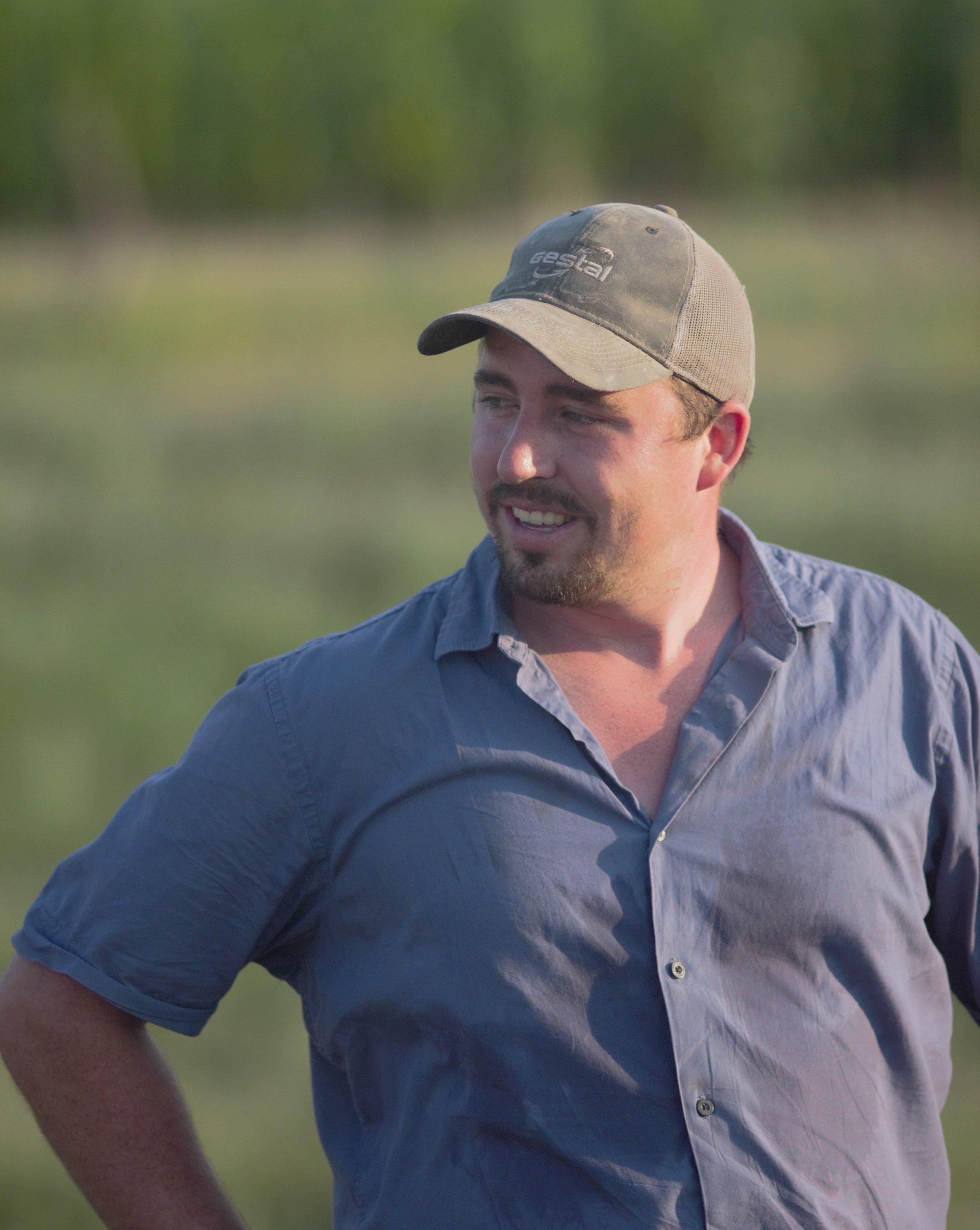 Kaden Roush, owner and pig farmer of R Family Farms