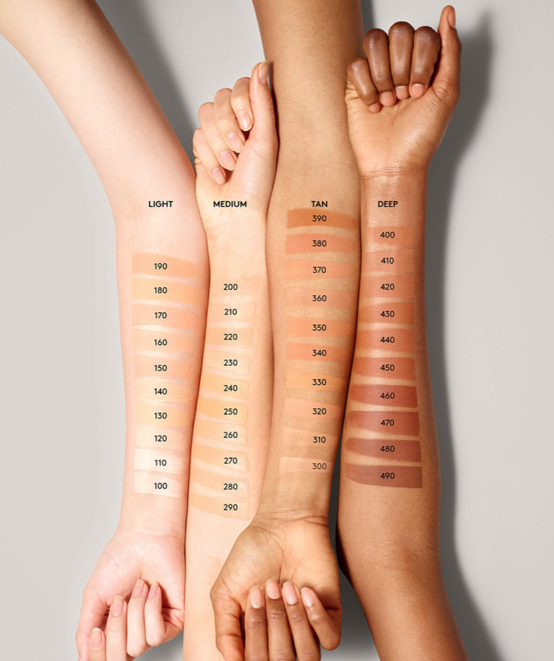 Fenty Beauty by Rihanna  has over 40 foundations colors and is leader of inclusivity in the beauty market.