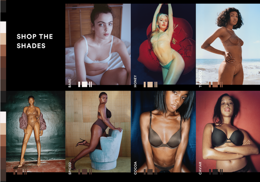 Savage X Fenty's  range of nude colors and an example of how inclusivity is changing the fashion industry.