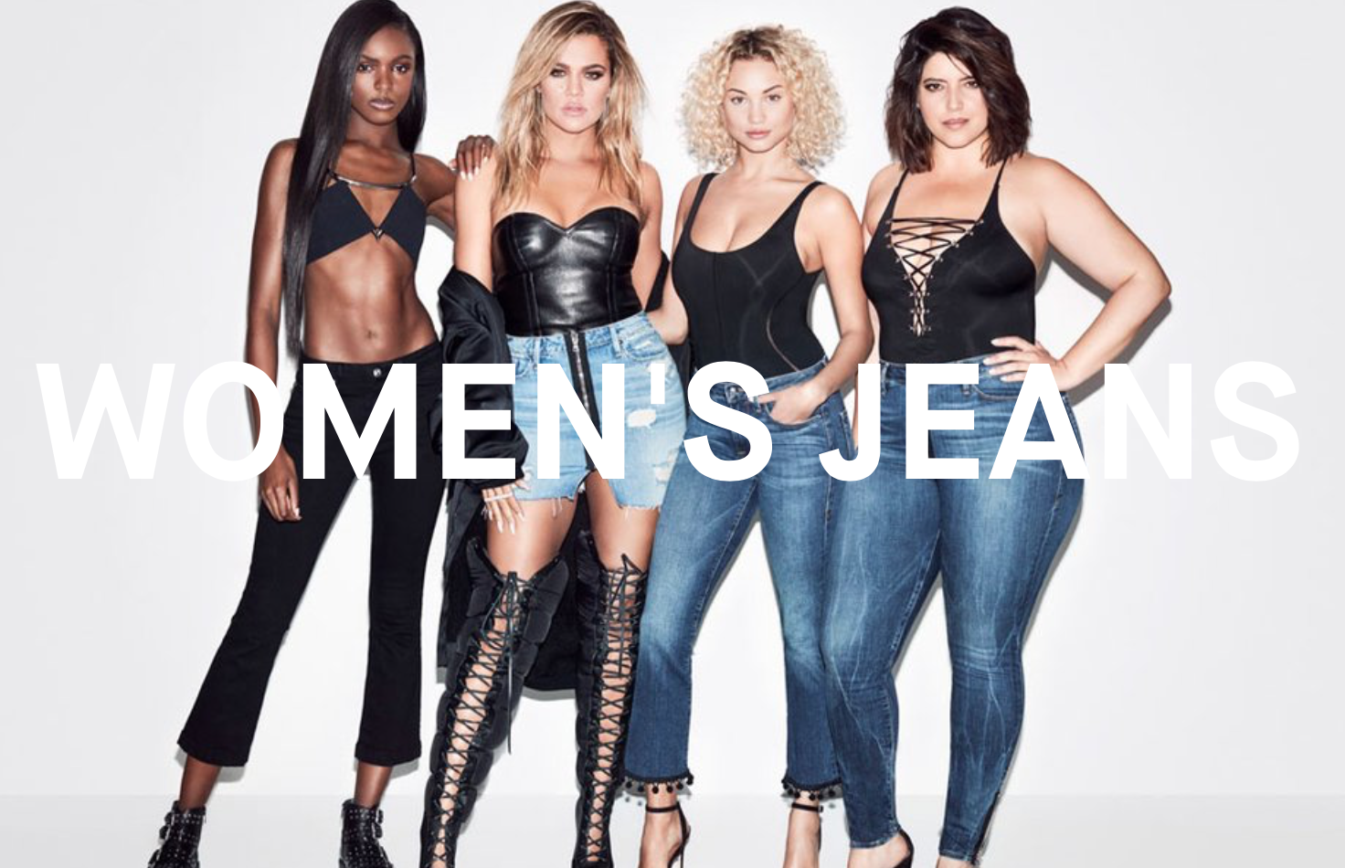 Good American's  Women's Jeans campaign featuring models of all sizes
