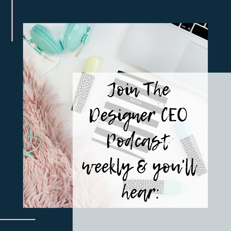 The Designer CEO Podcast for fashion designers and creative entrepreneurs