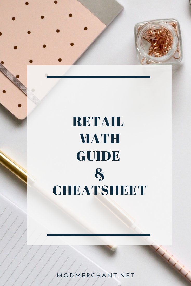Retail Math Guide and Cheatsheet for Fashion Brands