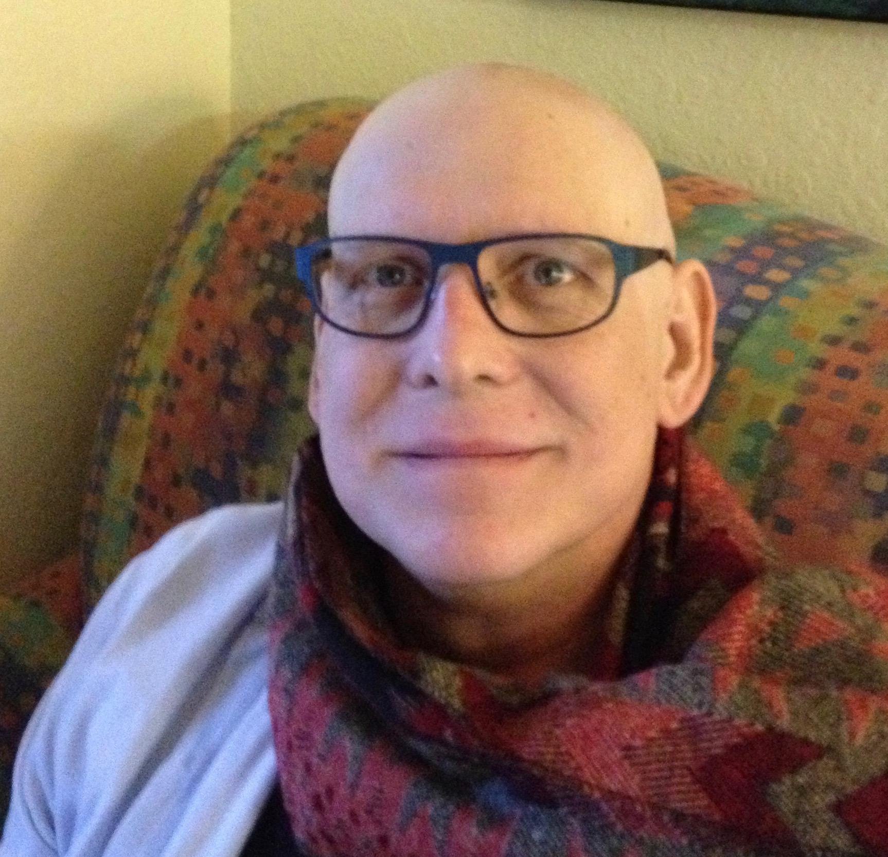 George scarf chemo no hair 2.3.13-cropped.jpg