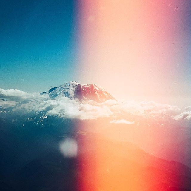 happy accident light leak  Mt. Rainier, Superia 400, Olympus OM-1 . . . . . . #35mm #somewheremagazine #weltraumzine #lekkerzine #broadmag #paperjournalmag #uncertainmag #framepressmag #solarcollective #back2thebase #photofilmy #mtrainier #analog #filmisnotdead #keepfilmalive #filmwave #deathb4digital #allformatcollective