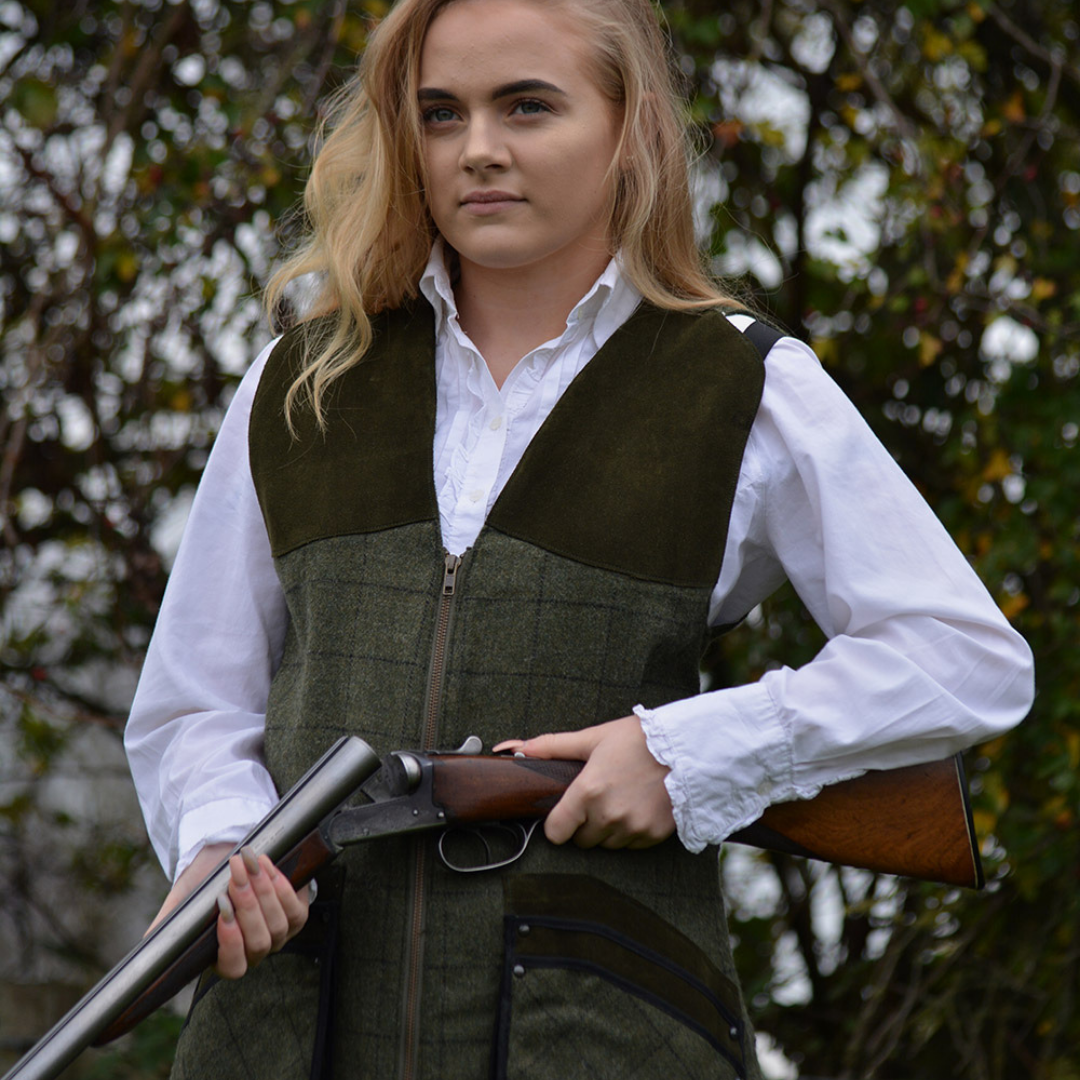 Emma Brown Tweed Shooting Vest    (MEMBERS DRAW)  ROSE TUCKER