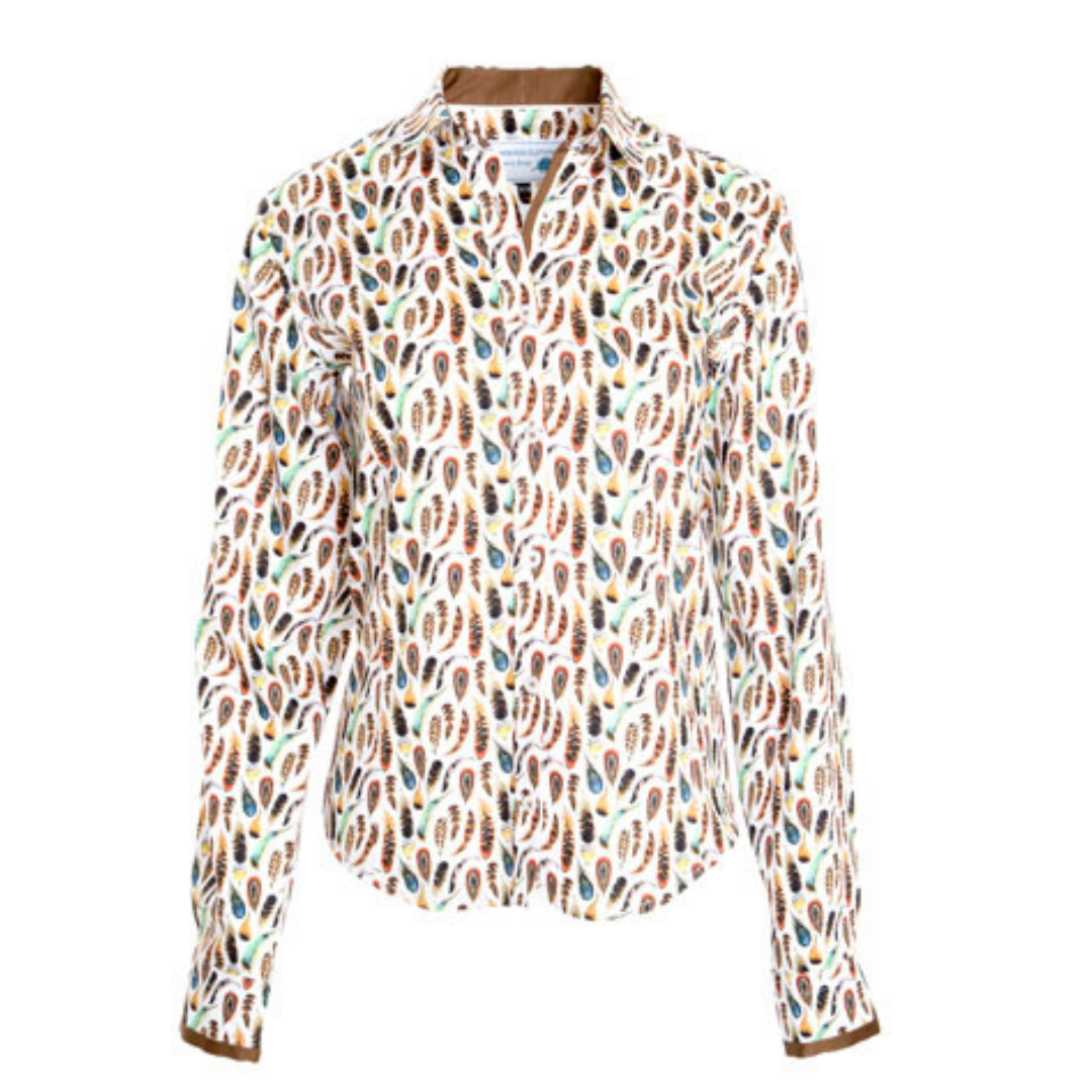 Gamebirds Clothing Feather Print Shirt   CATHY CURTIS - AGL