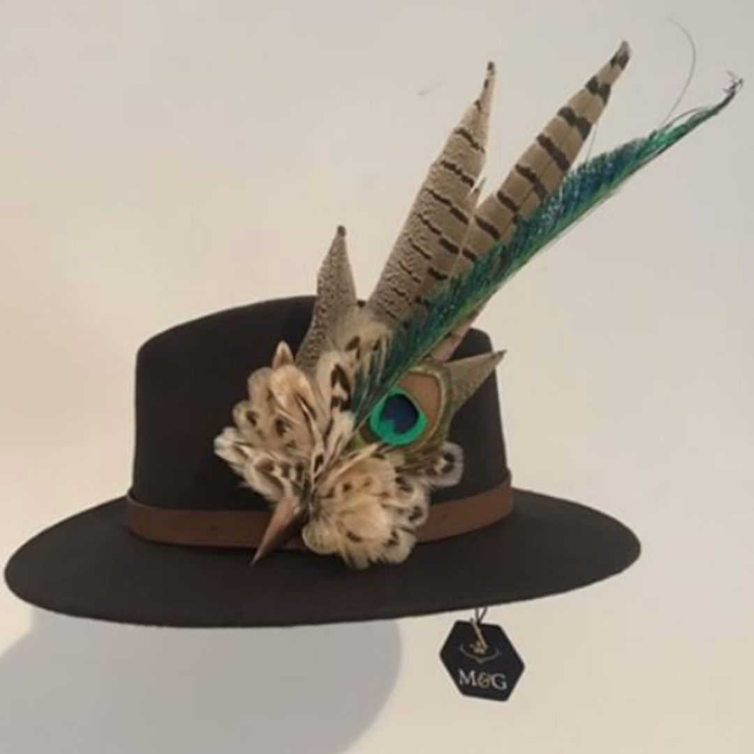 Mackenzie & George Feather Brooch and Fedora!    KATE DIXON - BISLEY @ BRAIDWOOD