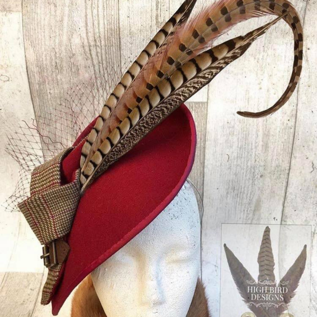 Stunning Bespoke Fascinator from High Bird Designs    STEFANIE TOMS - SPORTING TARGETS