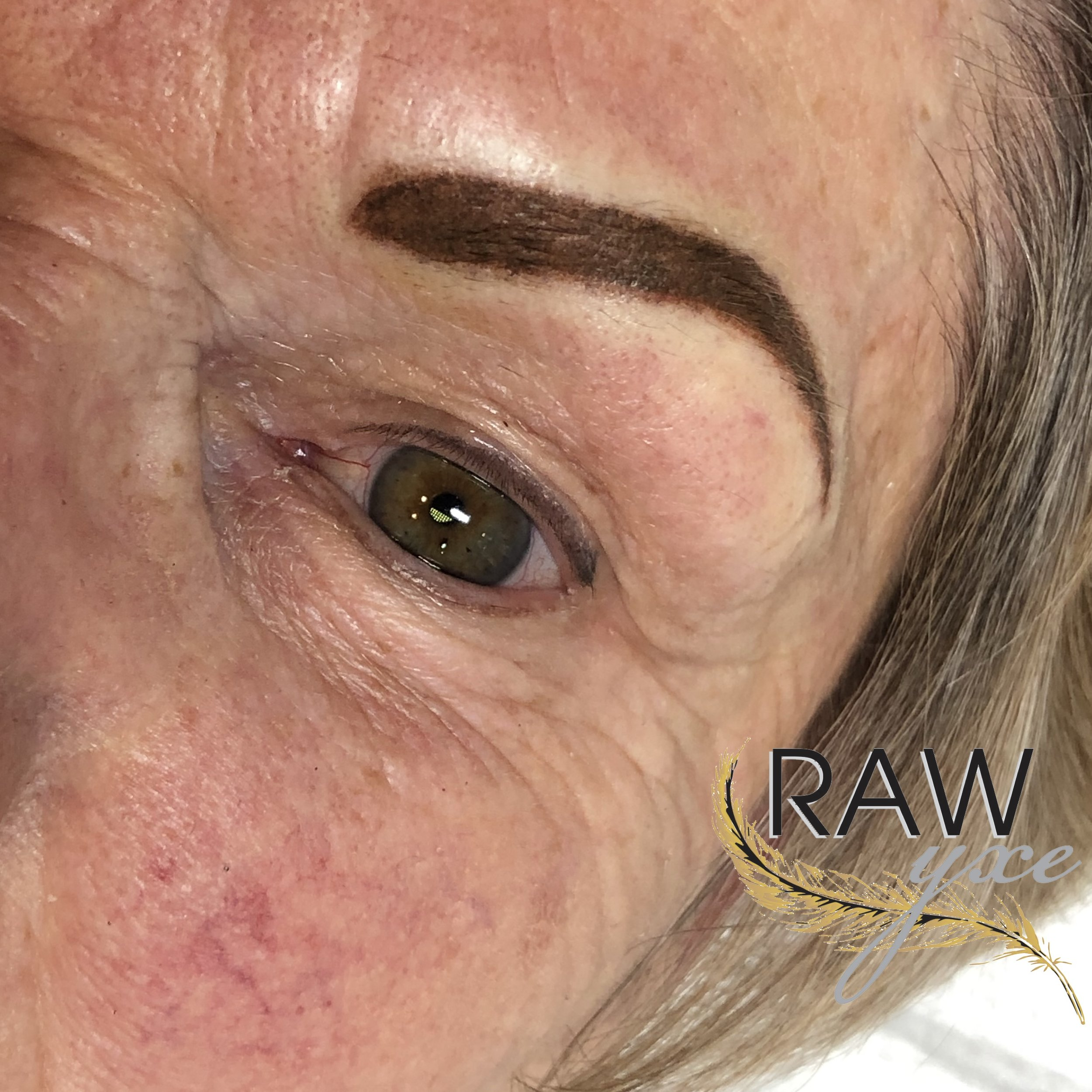 Powder Brow and Healed Upper Lash Enhancement