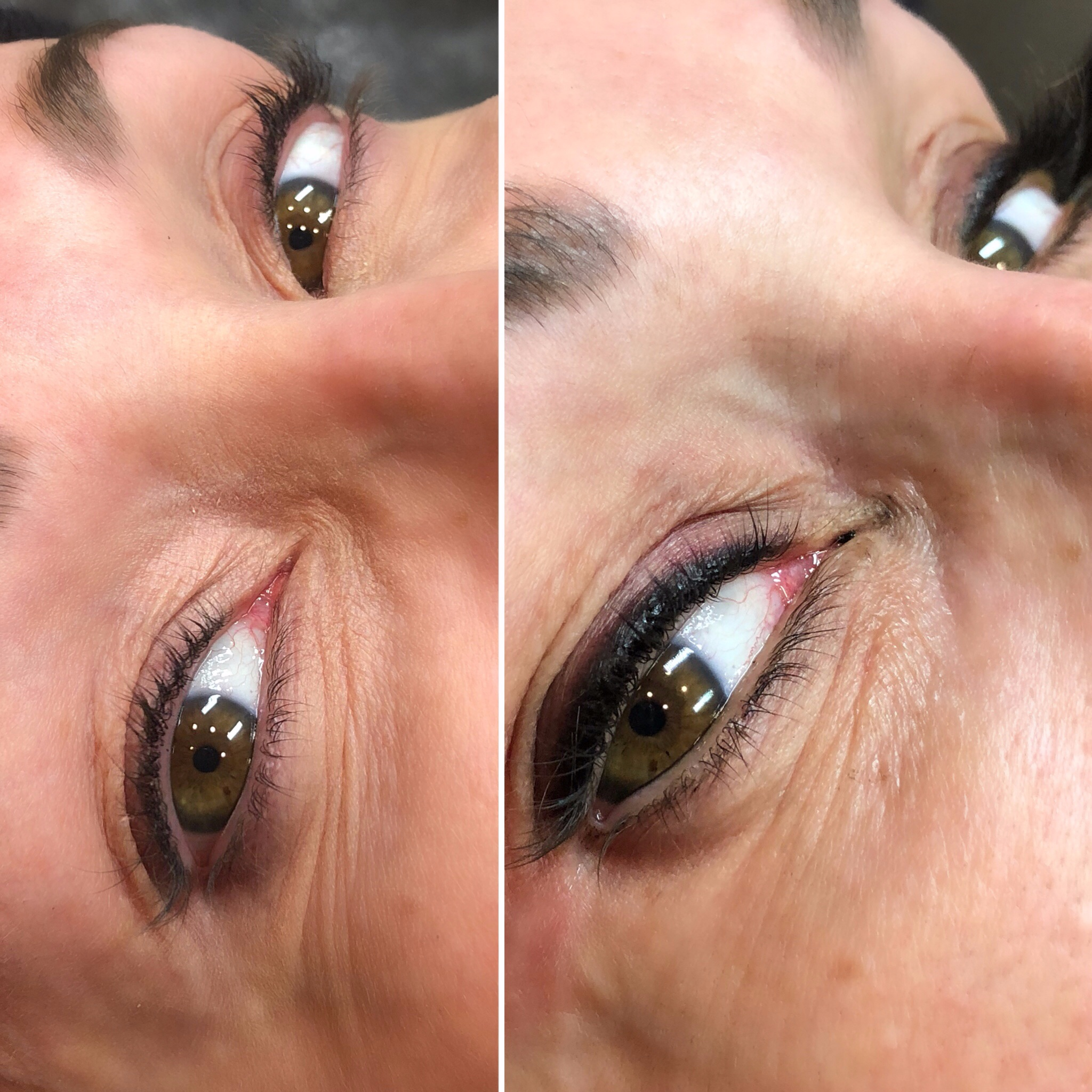 Before and After Smoky Lash Enhancement