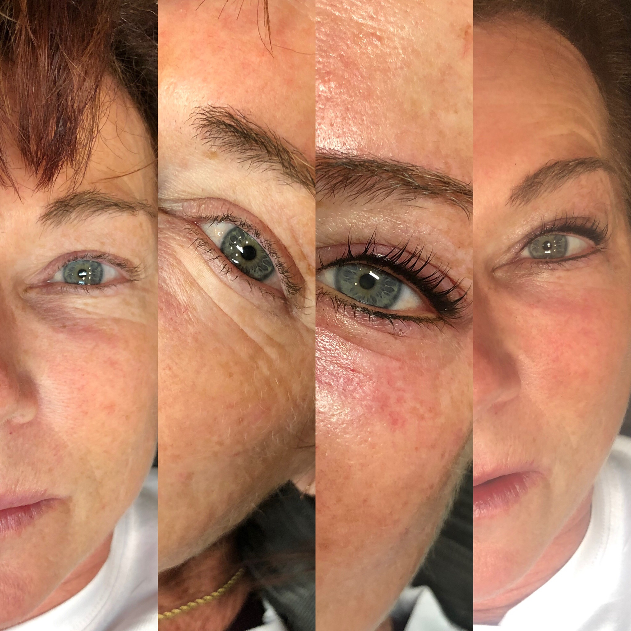 Before and After Upper and Lower Smoky Lash Enhancement & Lash Lift and Tint
