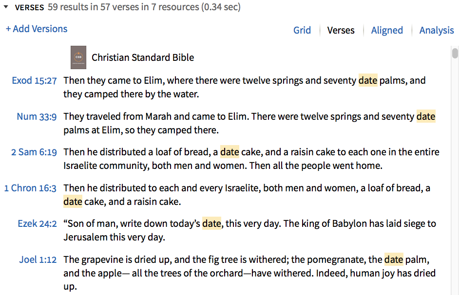 All the passages on dates in the Bible.
