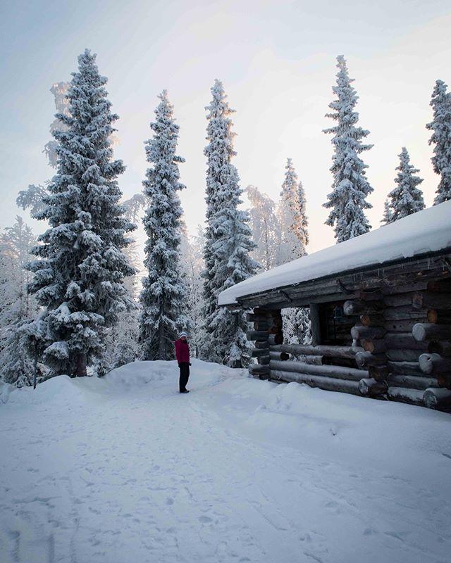 Our small hut  #kontikireisen @kontikireisen  #reisenstattferien @globetrotter_schweiz  #flyedelweiss  #visitlapland @visitlapland  #visitfinland @ourfinland  #arcticluosto @visitluosto #bodylpics