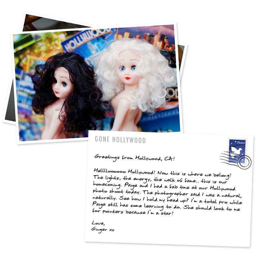 Paige and Ginger postcards