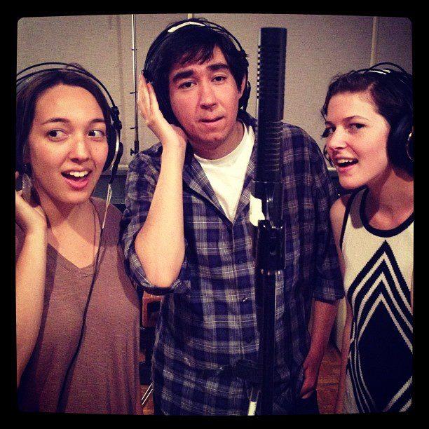 Greg Masaki, Linnea Sablosky and I on Nick Blechman's album (2013)