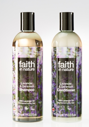 Faith in Nature Lavender and Geranium Shampoo and Conditioner £5.50 each - Faith in Nature is natural, organic, vegan and affordable too. The Lavender and Geranium Shampoo and Conditionerare brilliant every day haircare products for normal and dry hair. They clean deeply and leave your hair feeling soft and looking shiny and the 100% natural floral scent is lovely and delicate.