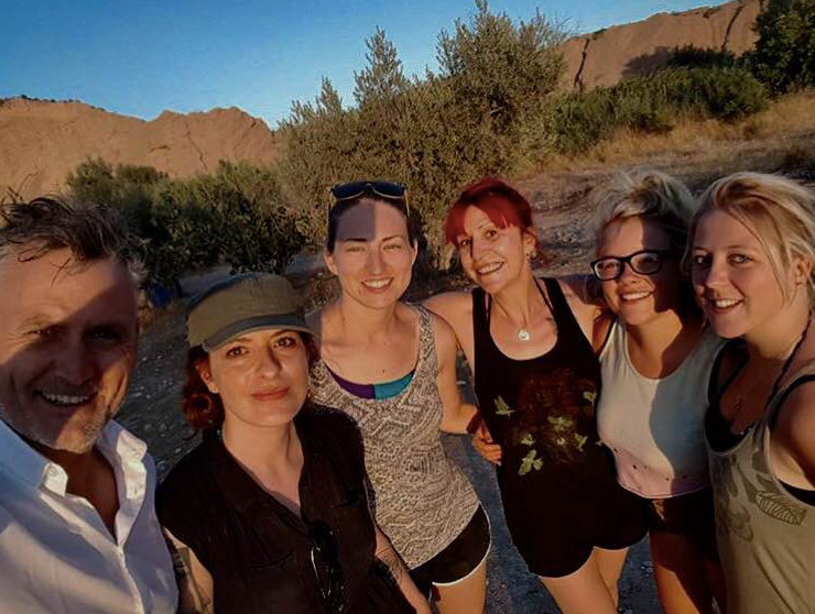 Julian with Stef, Krystal, Polly, Summer and Selena