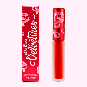 Lime Crime Matte Velvetines in New Americana - Lime Crime has a fantastic range of reds, but New Americana will really make an impact. Bright, bold and flattering, wear it with minimal eye makeup, or just eyeliner. This liquid lipstick won't budge. Prep your lips with balm first, wait 15 minutes, apply, and you are set for the night. Or day, if you like me, wear red at all times. £14.35