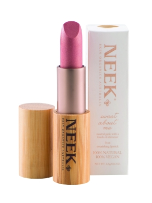 Neek in Sweet About Me - A beautiful nude lipstick with a hint of pink and a shimmery finish. £15.99