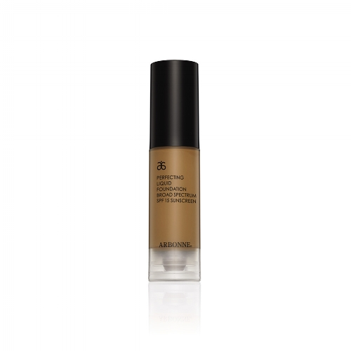 Arbonne Perfect Liquid Foundation SPF 15 - This medium coverage foundation glides on the skin and corrects small imperfections, leaving it looking radiant and feeling moisturised. It contains SPF 15, which makes it ideal to use in the warmer months, and comes in a good choice of shades, for all skin colours and tones. £37