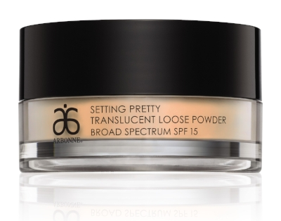 Arbonne Translucent Loose Powder SPF 15 - After applying foundation, set your base with a good powder. Make sure it's lightweight and translucent, like this one by Arbonne. Dust a thin veil and you are ready to go. £31