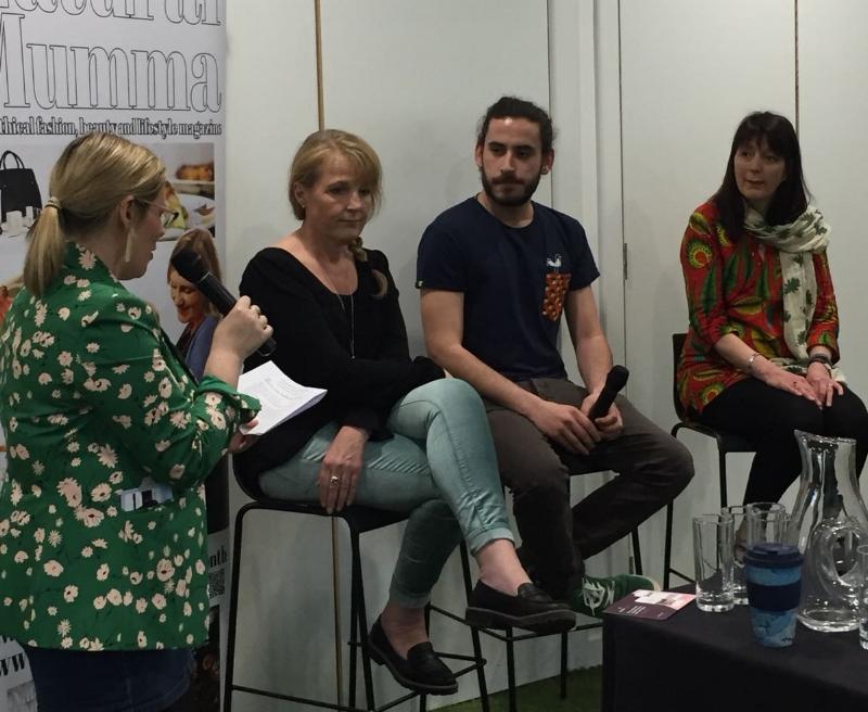Left to right: Sarah Greenaway, Mamoq's Lenny Leemann and Jo Slater