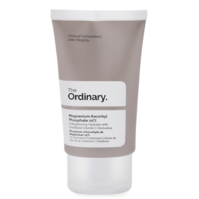 The Ordinary Magnesium Ascorbyl Phosphate  - With its high quality and low prices, The Ordinary has really made an impact in the beauty world, with people going crazy for the brand's scientific but no fuss products. I absolutely love this brightening and anti-ageing vitamin C derivative cream, which works well on dull skin in need of a serious pick me up. £7.80