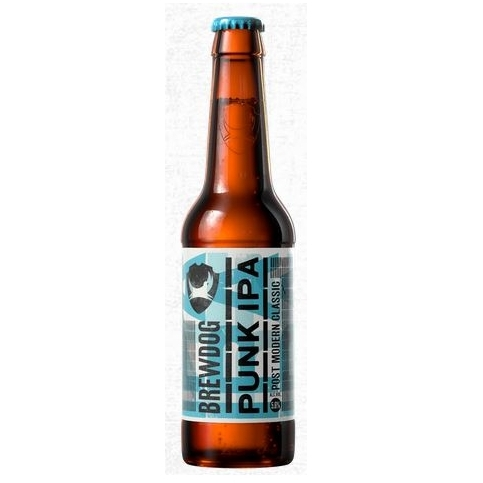 Brewdog Punk IPA - One of my all time favourite bottles of beer, Punk IPA is full flavoured and fruity as well as crisp and refreshing on a hot day and the perfect companion to a very dirty vegan burger £1.80 per bottle. Buy now.