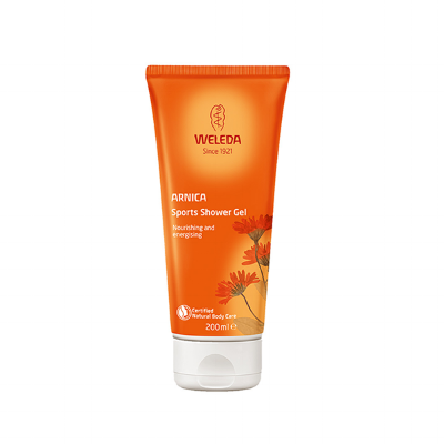 Weleda Arnica Sports Shower Gel - Rosemary and lavender plus arnica make this shower gel ideal to use after a work out. Refreshing and soothing for tired muscles. £7.95