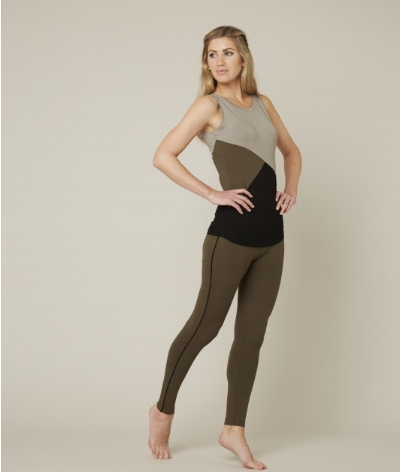 Asquith, Khaki Vest - We're loving the natural tones on this slim-fitting bamboo vest. Its long length enables you to layer up over your activewear underwear while keeping your chest and hips covered. Made from 95% bamboo and 5% elastane, this comfortable fabric does it all: it's ethical, flexible and breathable. Asquith promises that your activewear will never stretch, fade or bobble. For active mammas or soon-to-be mammas, check our their stretchy and stylish maternity wear! £45