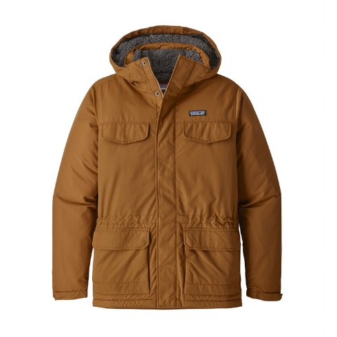Patagonia Men's Isthmus Parka - One to wear in cold climates. Made with fleece, Thermogreen™ 100% polyester (90% recycled) and PU coated nylon (92% recycled) to keep you warm in the harshest of temperatures. £200