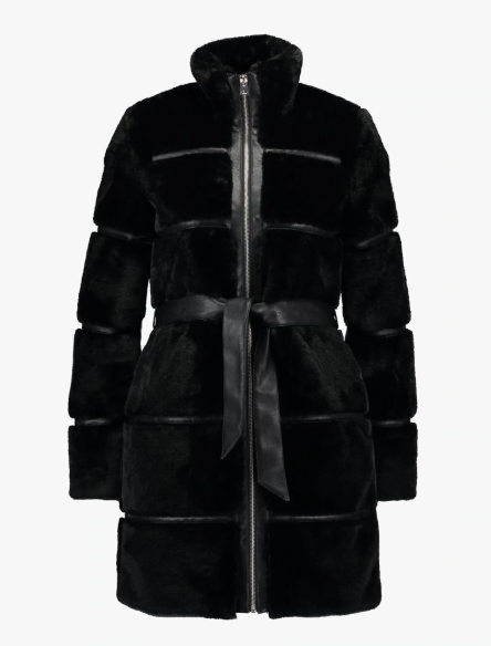 Vero Moda VMNINJA - Winter Coat - With faux leather and faux fur, this chic coat has a timeless, vintage feel and comes in plus sizes too. £90