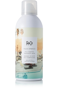 R+Co Pre Shampoo Treatment Mask - Applied for ten minutes pre-shower, this 'Palm Springs' mask by R+Co is a saviour in salvaging over worked hair. From styling with heat, colouring and chemicals, this intensely hydrating hero moves to undo damage, and reinvigorate tired tresses. Using oils such as argan, coconut and rosehip, this product is sure to seal in moisture, leaving you with strong and supple hair, just in time for the party season. Get one here for £24