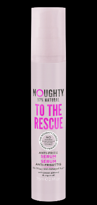 Noughty to the Rescue Anti Frizz Serum - Silicone free and 97% natural, this serum is the perfect antidote to bad hair days. With heat protection up to 220°C, this fabulous formula containing sweet almond extract and argan oil protects from breaks, splits and frizz. It's silky, flyaway-free hair in a bottle! Buy one here for £8.99