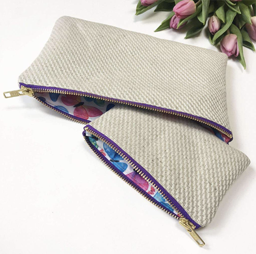 ElizaEliza Freedom Collection Organic Hemp-Cotton Makeup Bag - Ditch (=recycle) your plastic makeup bag and store your toiletries in this instead. It's lightweight, pretty, and can be washed as often as needed.