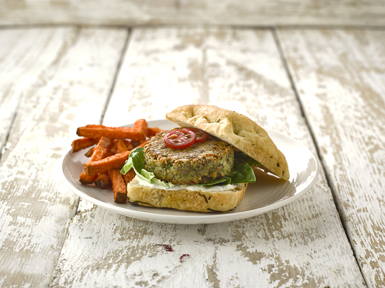Vegable Burgers - With edamame, lentils, butter beans and chia seeds, Vegable Burgers are quick to prepare and full of taste. Just pop them in the oven for 20 minutes and serve with chips, a side salad or your favourite veggies. £2.25