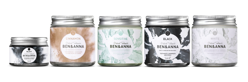 Ben & Anna Toothpastes and Powders - Ben & Anna's tooth care range is vegan, cruelty-free and also free from parabens, SLS, formaldehydes and microplastic. What I love about this range, aside from its quality, is that all the products come in recyclable glass jars, which is great for the environment and they look pretty in the bathroom. The range includes Black Toothpaste (with activated charcoal) £8.95, White Toothpaste £9.95, Sensitive Toothpaste £8.95, Cinnamon Tooth powder £10.95 and Black Tooth Powder £10.95.
