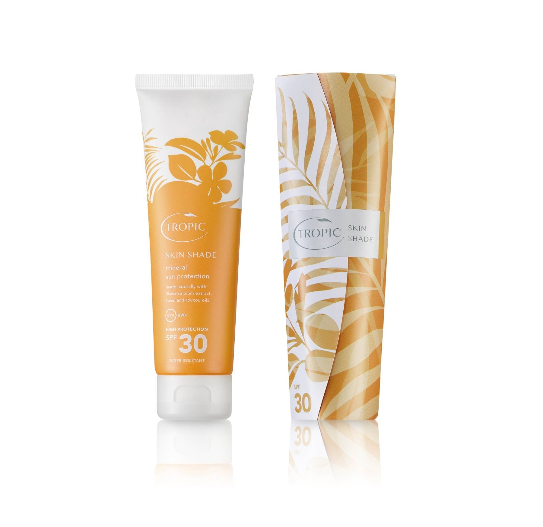 Tropic Skin Shade Mineral Sun Protection SPF30 - Made with sustainable ingredients, this water resistant sun cream contains zinc oxide and titanium dioxide for mineral protection, omega 6-rich Illawarra plum extract, kahai oil, which is packed with vitamin E, roucou oil, with high levels of beta-carotene, grape seed oil, jojoba oil and coconut emollients, for super hydrating sun protection. Tropic sunscreen absorbs really easily, doesn't leave that dreaded white film behind, smells like the holidays, comes in a pretty, recyclable bottle, is made fresh in Surrey and you can choose between SPF15, 30 or 50, according to your needs. £28