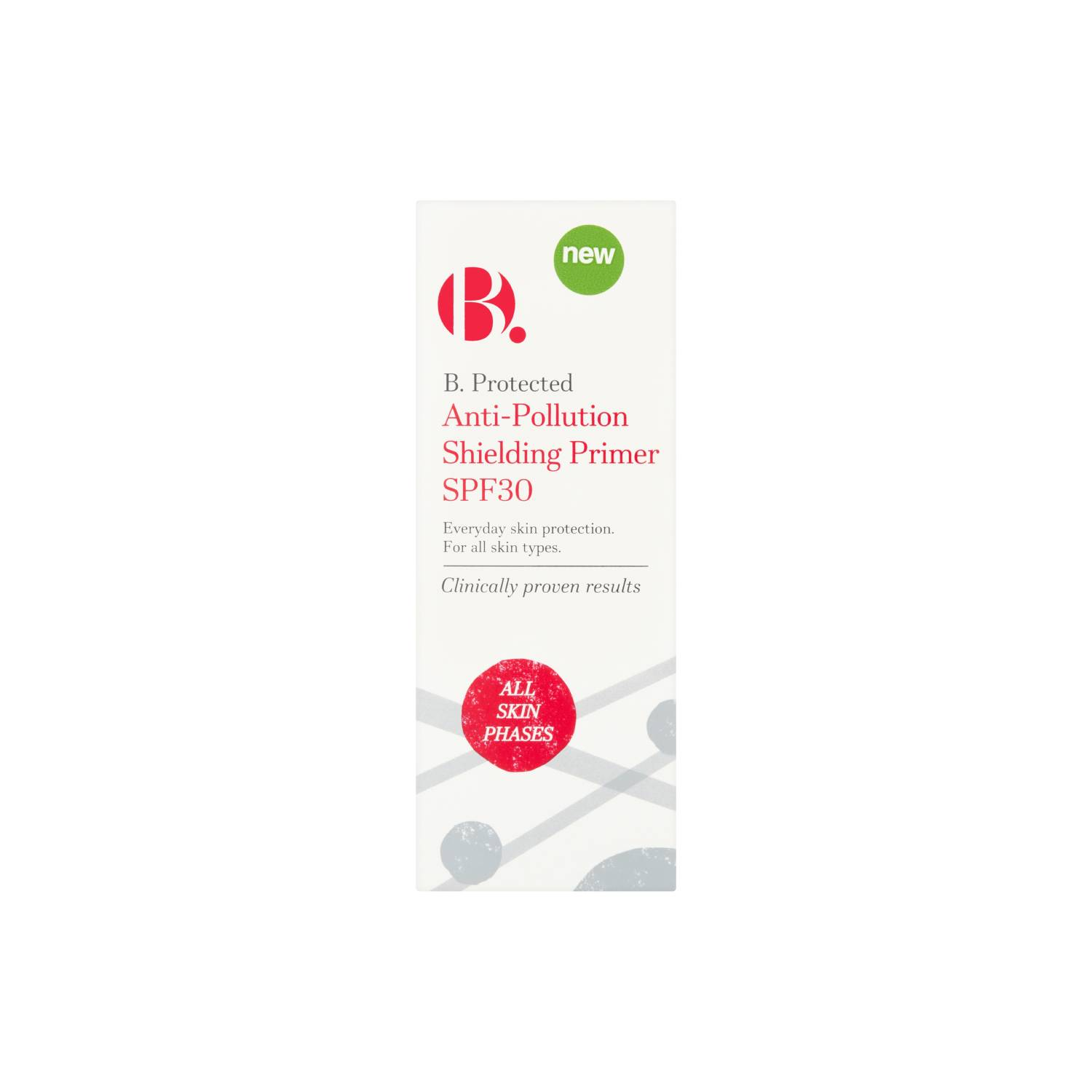 B. Protected Anti-Pollution Shielding Primer SPF30 - This primer is fantastic at protecting from the sun and pollution whilst creating a smooth canvas for makeup. It has a very light consistency but goes a long way, so you only need a little bit for your face and neck. £12.99