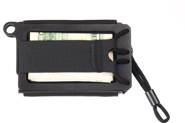 Built to last: The wallet is cut from stainless steel and stitched together with strong nylon and 550 cord.