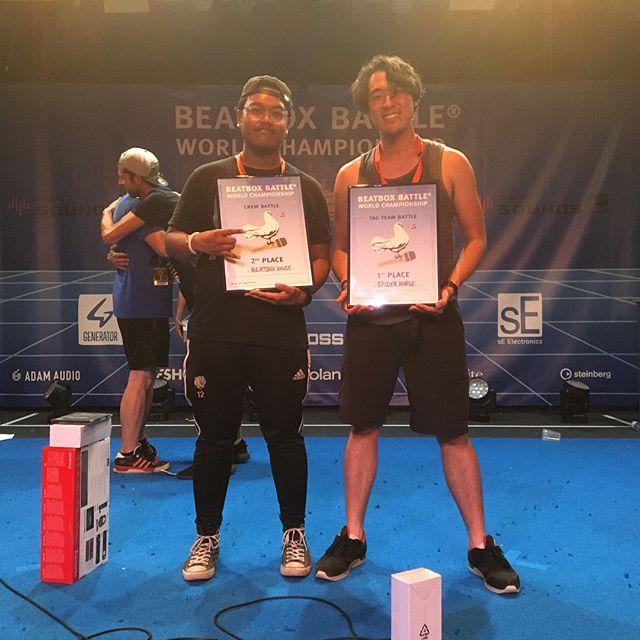 We did it 🥇 #spiderhorse #worldchampions #beatboxbattlewordchampionship