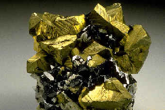 "Chalcopyrite. Not to be confused with pyrite (""Fool's gold"")."