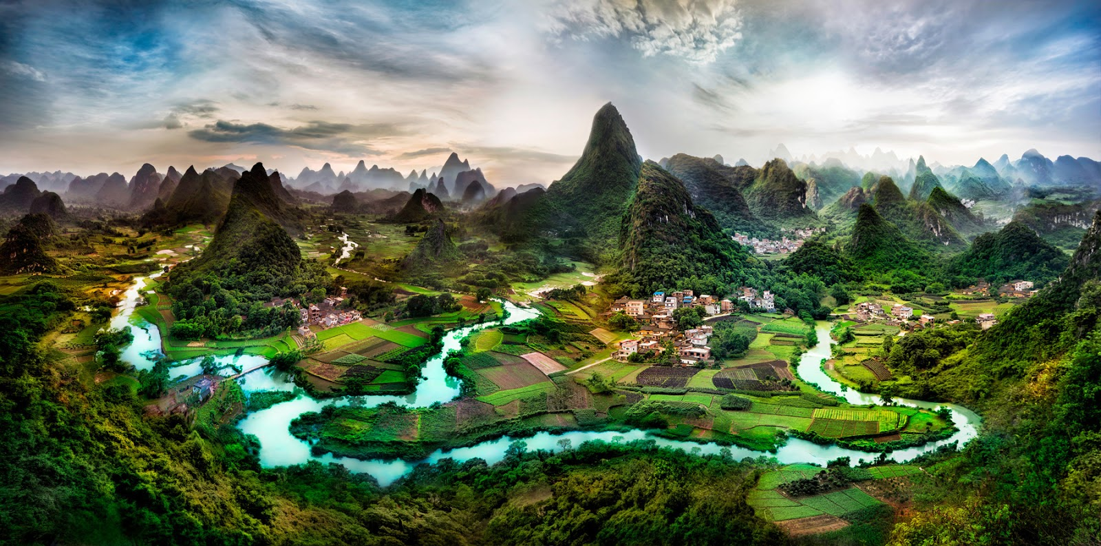 Karst topography deep in the Guangxi Province of China. Photo by Trey Ratcliff