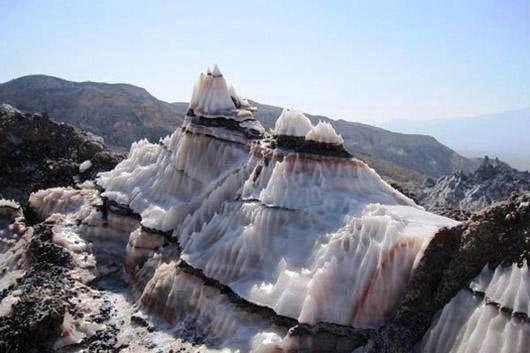 Jashak salt dome in Bushehr Province, Iran.