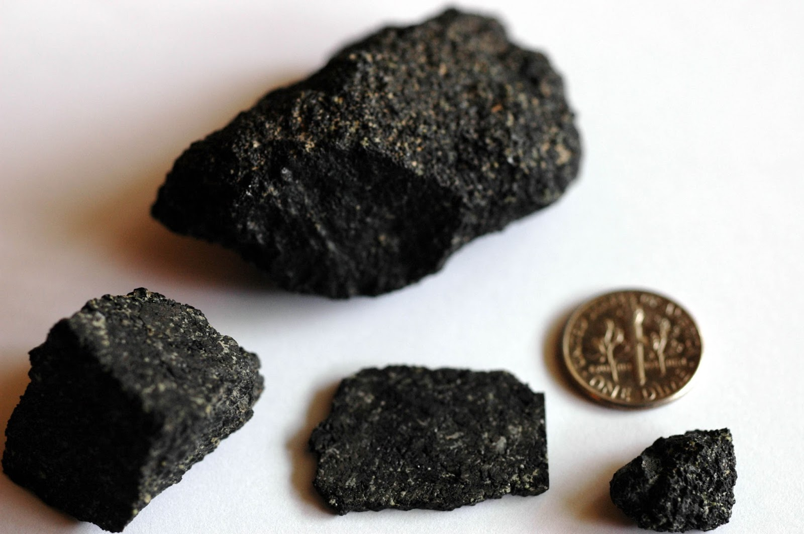 Chassignite; one of three Martian meteorite types analyzed by Dauphas and Pourmand in 2011. The others being Shergottite, and Nakhlite. These are not the exact samples used in the study.    Photo Credit: Bruno Fectay & Carine Bidaut