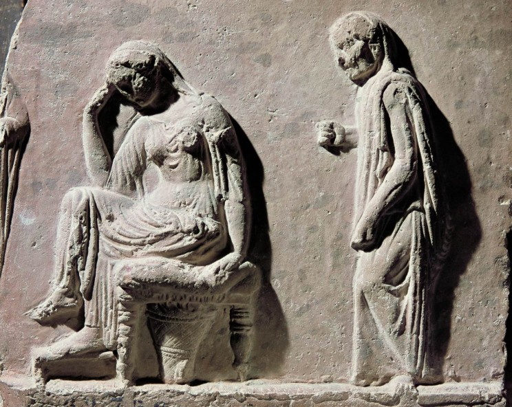 Here Eurykleia is telling Penelope that Odysseus' excuse claiming Kalypso held him against his will as a lover, smells a lot like the manure out in the garden.