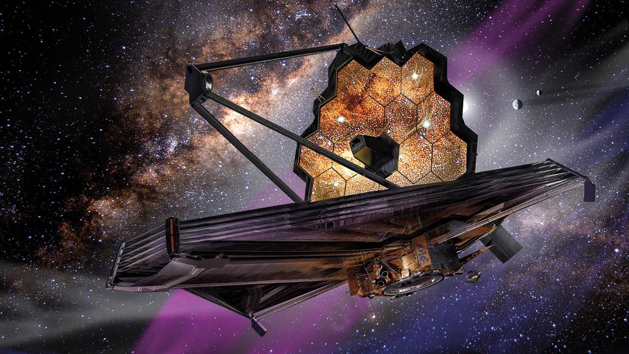 Artist's depiction of the James Webb telescope.    Image credit: NASA