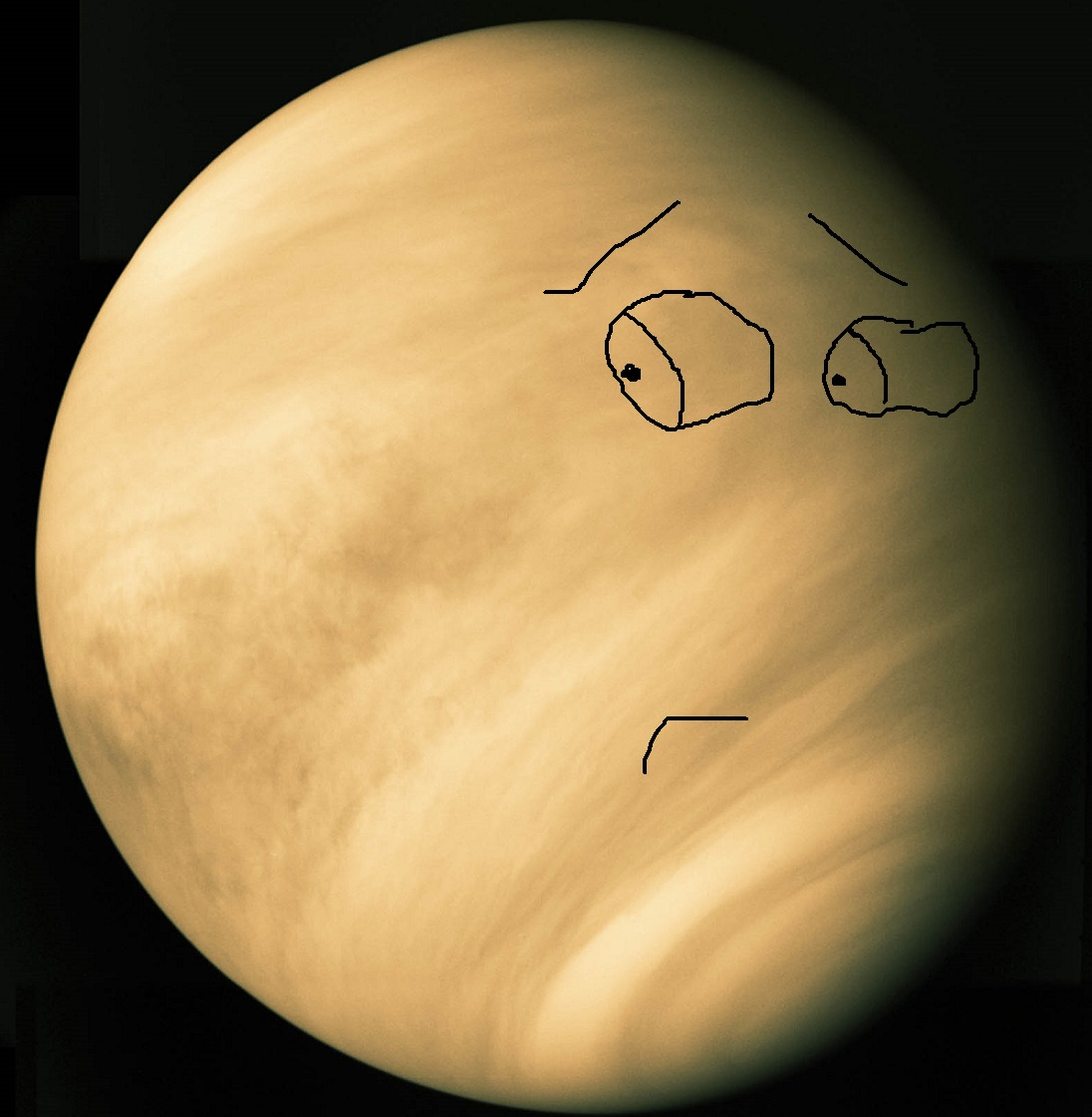 Venus thought it was hot stuff... that is until the first Von Neumann probe showed up with a miner's helmet and a pick axe.    Image credit: Mariner 10 (anthropomorphized by me)