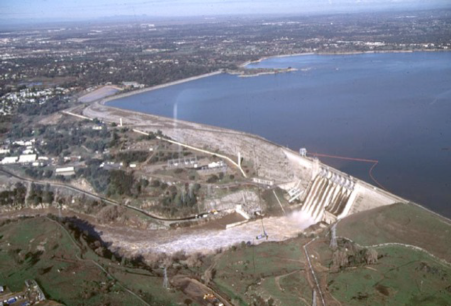 Folsom dam. Everyone in the Sacramento valley should own an ark... or build one.