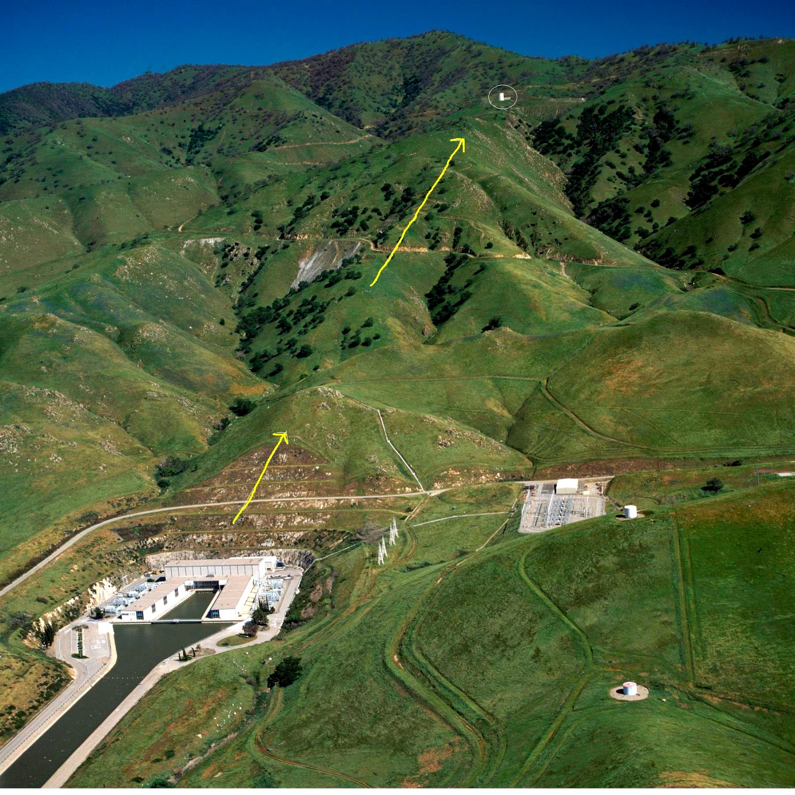 The Edmonston Pumping Plant is one of the facilities responsible for pumping water over the Tehachapi Mountains.